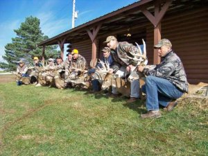 9 hunters with 9 harvested deer  Near Lodge