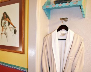 Robe Hung on Wall