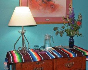 Woven Blanket on Dresser