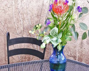 Flower Vase on Patio Table