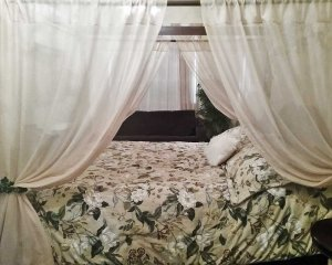 Floral Bedding with Canopy