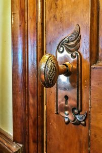 historic doorknob with decorative elements