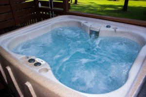 Bubbling Water in Hot Tub
