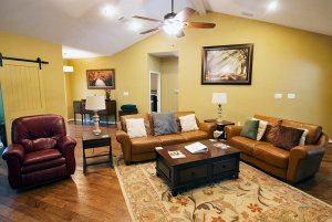 Family Room with Two Couches and Chair