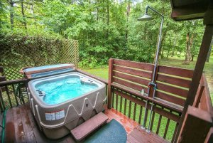 Hot Tub with Privacy Fence