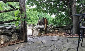 Stone Paved Patio