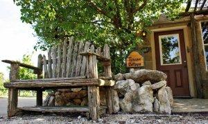 Rustic Wooden Bench Near Door