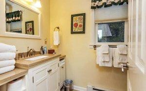 Bathroom view from door towards window