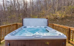A hot tub in early spring