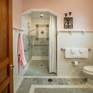 Bathroom with roomy shower