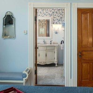 Doorway to bathroom