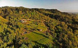 Birdseye of Bella Collina grounds