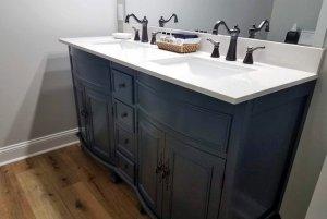 Bathroom Vanity with Double Sinks