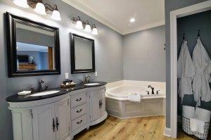 Jacuzzi Tub Near Bathroom Sink