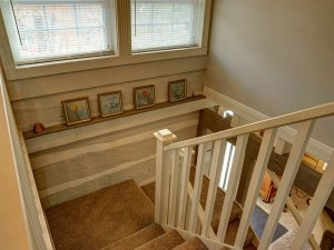 Window above stairs leading down