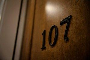 Door to room 107