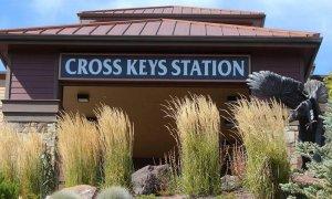 cross keys station sign