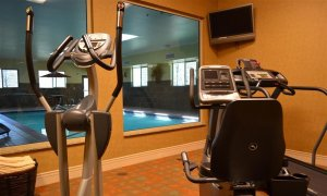 fitness equipment in workout room