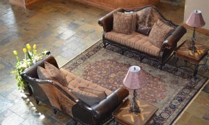 two couches in lounge area