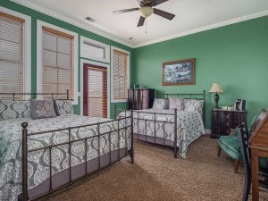 Two queen-sized beds in room