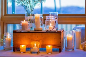 lighted decorative candles