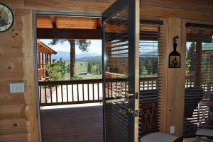 Open door to the balcony area