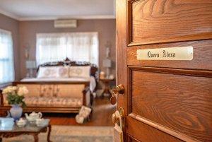 Open door leading into bedroom