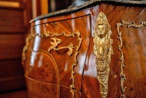 Ornately embellished armoire