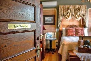Doorway to Lady Samantha's bedroom