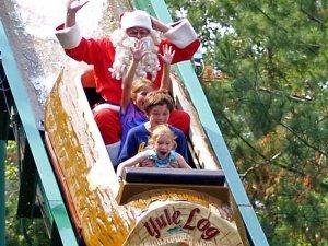 Santa on the log flume