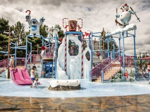 water park with snow theme