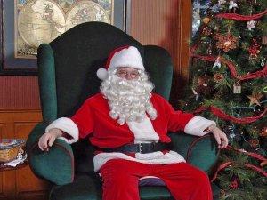santa in his chair