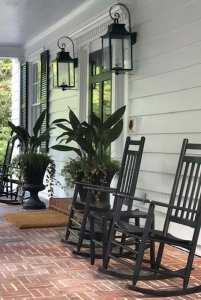 chairs on a front porch