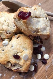 Cranberry Scones with White Chocolate Chips