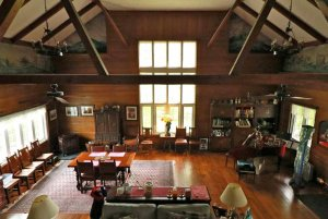 Great room of a lodge