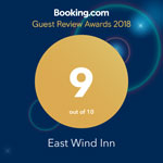 Booking.com Guest Review Awards 2018 9 out of 10 for the Cutty Sark Motel