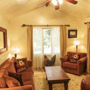 raven room in Emerald Iguana Inn in Ojai, California