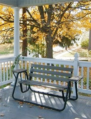 The Porch at The Sawyer House Bed and Breakfast in Wisconsin