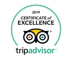 2019 Certificate of Excellence - TripAdvisor