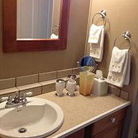 bathroom at 66 Center in Eureka Springs, Arkansas