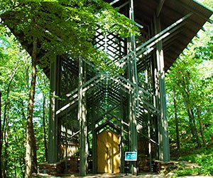 66 Center in Eureka Springs, Arkansas Photo By Clinton Steeds (originally posted to Flickr as Thorncrown Chapel) [CC-BY-2.0 (http://creativecommons.org/licenses/by/2.0)], via Wikimedia Commons