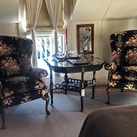 Sitting room at 66 Center in Eureka Springs, Arkansas