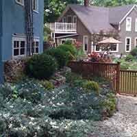 garden at 66 Center in Eureka Springs, Arkansas