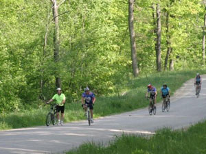 biking in Kickapoo Valley, WIsconsin