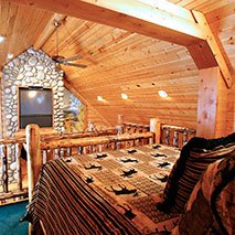 Rocky Mountain Cabin Suite in Black Swan Inn in Pocatello, Idaho