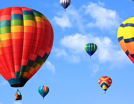 Hot air balloon rides near Le Puy inn in Newberg, Oregon