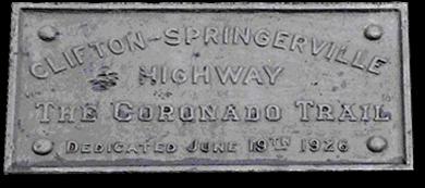Coronado trail marker