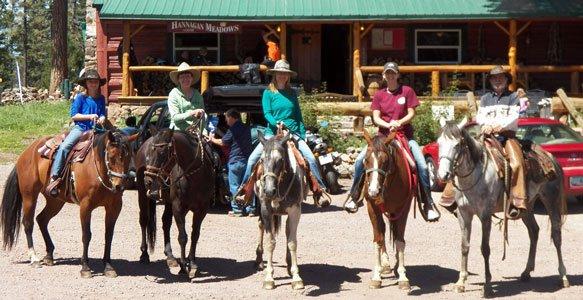Horseback riding at Hannagan Meadow Lodge in Alpine, AZ
