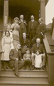 Historic Photo taken in 1919 of Edwards family of Vancouver, British Columbia