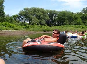 Tubing near Butler House Stowe in VT